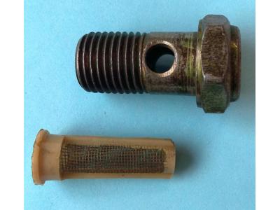 Болт пустотелый М14 с фильтр-сеткой (штуцер топливный) H HOWO (ХОВО) 90003962612 фото 1 Астрахань